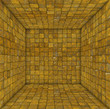 tile mosaic empty space room in rust yellow