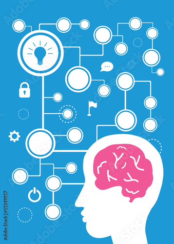 brain vector cartoon
