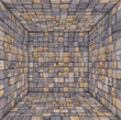 tile mosaic empty space room wood timber