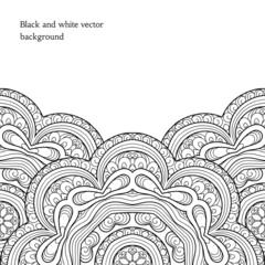Black and white decorative background