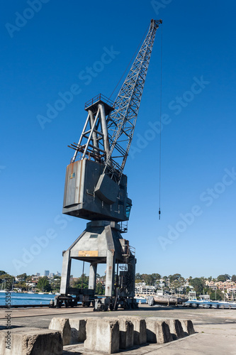 disused crane on Cockatoo Island