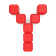 letter Y cubic red