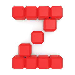 letter Z cubic red