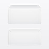 Blank envelopes on gray background.