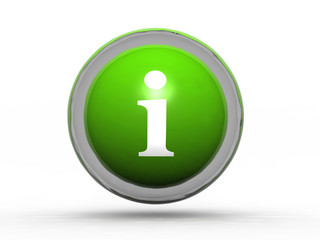 information glass ball icon on white background