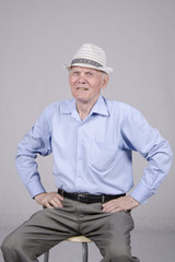 Портрет пожилого мужчины восьмидесяти лет