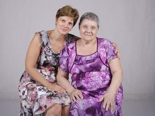Портрет восьмидесятилетней матери и пятидесятилетней дочери
