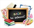 little blackboard with back to school text