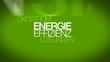 Energieeffizienz Lösungen Ökostrom grüne tag cloud animierten