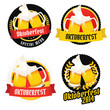 Set of Oktoberfest labels, badges and menu elements