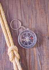 shell and compass
