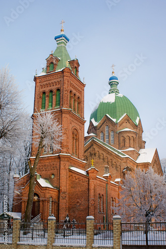 The Orthodox Church of All Saints in Riga.