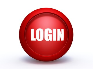login sphere icon on white background