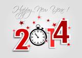 Meilleurs Voeux 2014 rouge chrono
