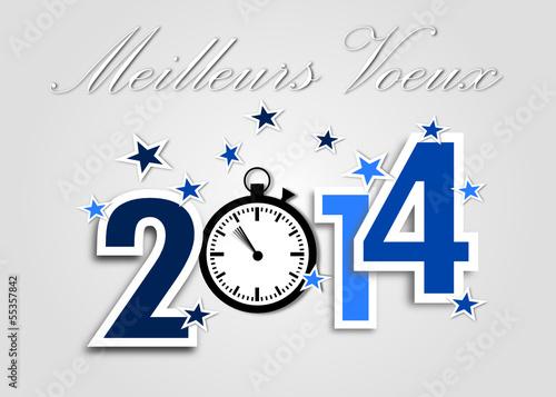 Meilleurs Voeux 2014 Bleu Chrono