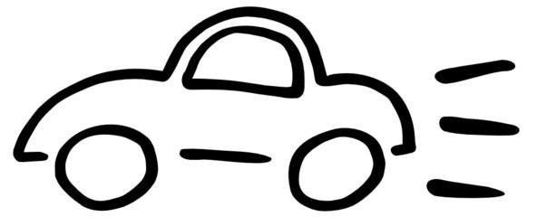 Auto Zeichnung abstrakt