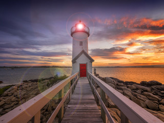 Lighthouse in Gloucester, MA. USA