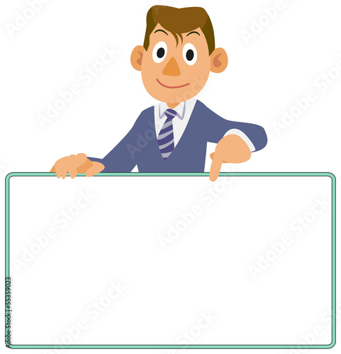 Businessman - Bulletin board