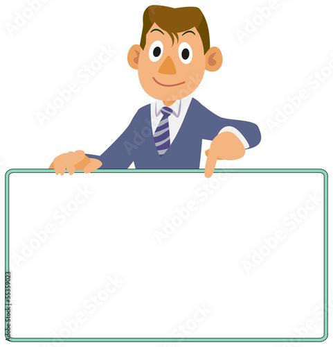 Businessman - Bulletin board