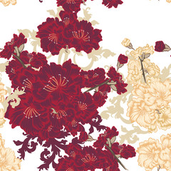 Floral seamless pattern for design