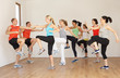Group Of People Exercising In Dance Studio