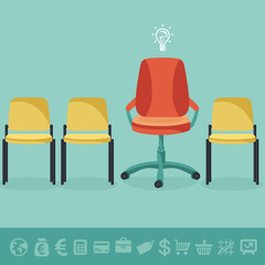 Vector office concept - office chairs