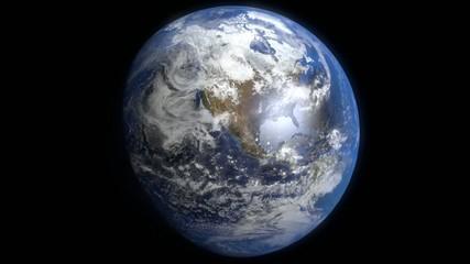 Earth rotating loop no stars (NASA images used)