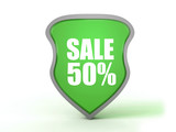 sale icon on white background