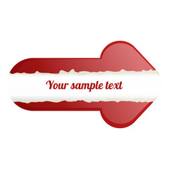 Abstract red arrow with place for text