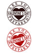 Valentines day rubber stamp
