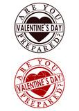 Valentines day rubber stamp