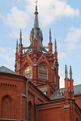 Fragment of Cathedral of the Immaculate Conception in Moscow, RU