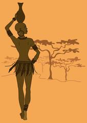 African tribal seminude girl