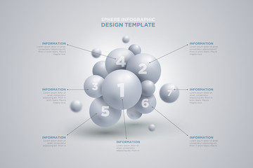 Sphere infographics template