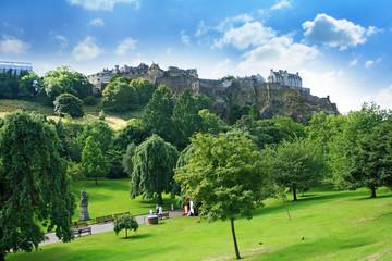 Princes Street Gardens and Edinburgh Castle, Scotland