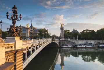 Pont Alexandre III and Grand Palais, Paris, France