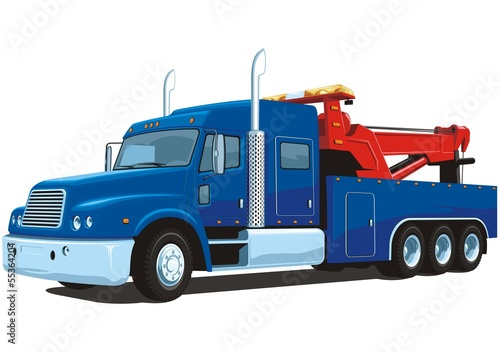 Vector isolated heavy wrecker