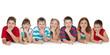 Seven children on floor