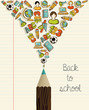 Education icons back to school pencil.