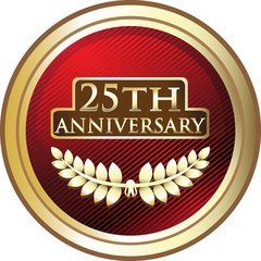 Twenty Fifth Anniversary Red Shield