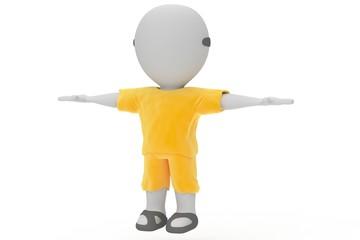 Muñeco 3d amarillo