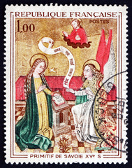 Postage stamp France 1970 Annunciation, Painting