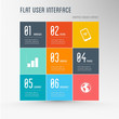 flat design - user inteface graphic elements