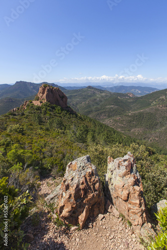 Massif de I'esterel mountains, Agay, south of France