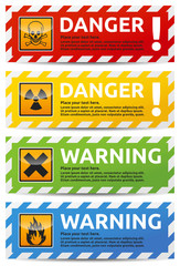 Danger banner 4 color version collection