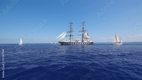 HD - Tall Sailboat. Wide angle. scene02