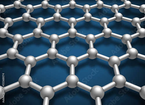 Graphene layer structure schematic model