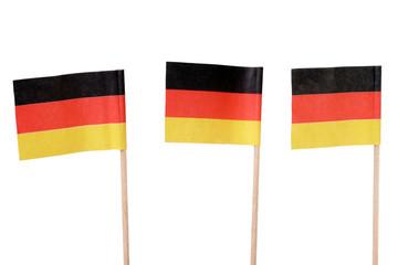 Deutschlandfahne isoliert