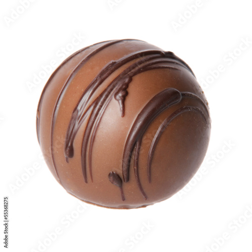 chocolate candy isolated on white. delicious truffle
