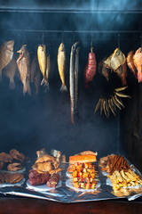 Marine fish from smokehouse is a great source of omega 3